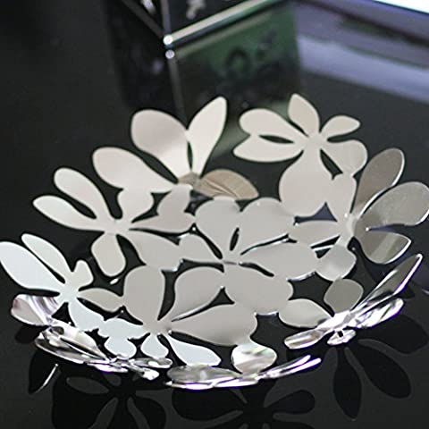 leaf openwork bowls/ table coffee table display/Modern decorative stainless steel fruit bowl