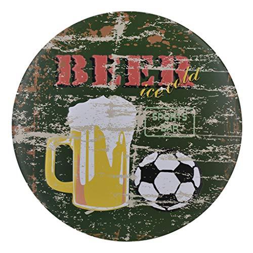 HADIY Cool Retro Metal Poster Paintings Hanging Tin Sign Wall Iron for Cafe Bar Pub Beer Wall Decor (C) ()