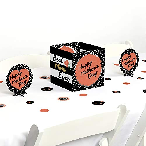 Mothers Day Centerpieces - Big Dot of Happiness Best Mom Ever - Mother's Day Centerpiece & Table Decoration Kit