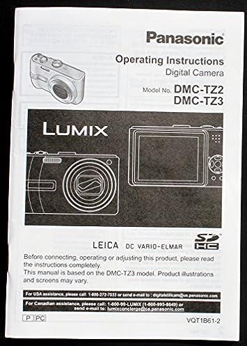 panasonic lumix dmc tz2 dmc tz3 original operating instruction rh amazon com Panasonic DMC-TZ3 Purchace Panasonic DMC- TZ5