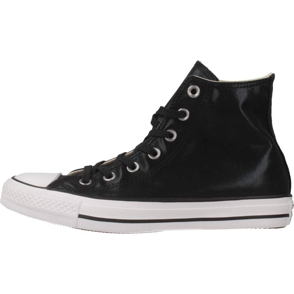 5fd848a5f4b35 Converse Chuck Taylor All Star Hi Noir   Noir   Blanc Canvas  Amazon.fr   Chaussures et Sacs