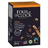 Four O'Clock Espresso Chai Black Tea Organic Fairtrade, 16 Count