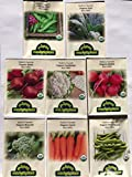 buy CERTIFIED ORGANIC NON-GMO PREMIUM WINTER VEGETABLE GARDEN SEED COLLECTION. Heirloom seeds USDA Lab tested. Broccoli, Beet, Carrot, Cauliflower, Fava Bean, Kale, Pea, Radish. Gardener & chef favorites! now, new 2018-2017 bestseller, review and Photo, best price $14.49