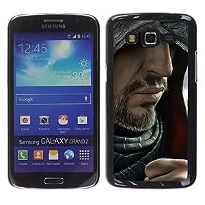 EJOY---Cubierta de la caja de protección la piel dura para el / Samsung Galaxy Grand 2 / --Barbudo Assasin