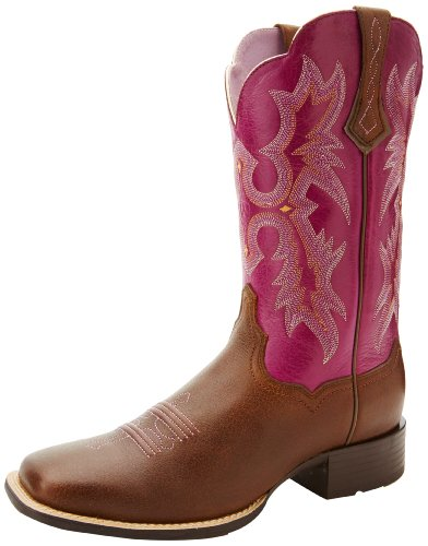 Ariat Women's Tombstone Wide Square Toe Western Cowboy Boot, Vintage Bomber, 10 M US