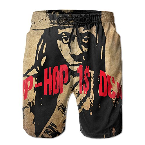 Mens Quick Dry Board Shorts Hip Hop Is Dead Cool Guy Design Swim Surf Trunks