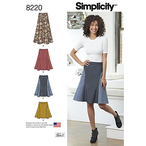 Simplicity Creative Patterns Simplicity Pattern 8220 Misses' Easy-to-Sew Skirt in Three Lengths, Size: H5 (6-8-10-12-14)