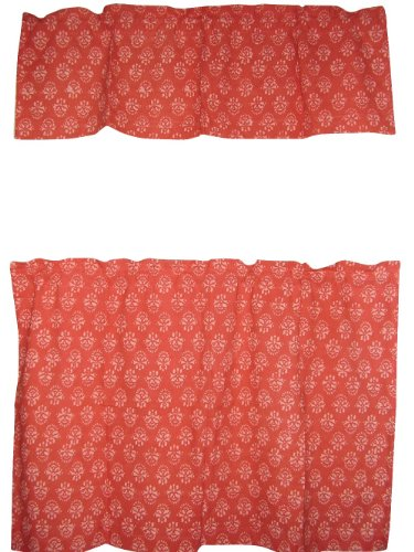 cafe-curtain-with-valance-block-print-cotton-44-x-30-coral-red