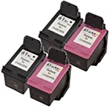 4 Pack Ink4work Remanufactured HP 61XL High-Yield (2 Black and 2 Color) Ink Cartridge For Deskjet 1000/1050/1051/1056/2050/2510/2512, Office Central