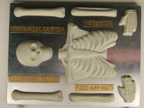 Large Skeleton (top half) H102 Halloween Chocolate Candy (Halloween Body Parts Food)
