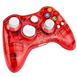 xbox 360 led controller - Kycola Xbox 360 Controller GC21 Wireless PC Gamepad LED Controller Transparent Joystick For Xbox 360/PC(Red)