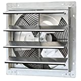 iLIVING ILG8SF16V Wall-Mounted Variable Speed Shutter Exhaust Fan, 16""