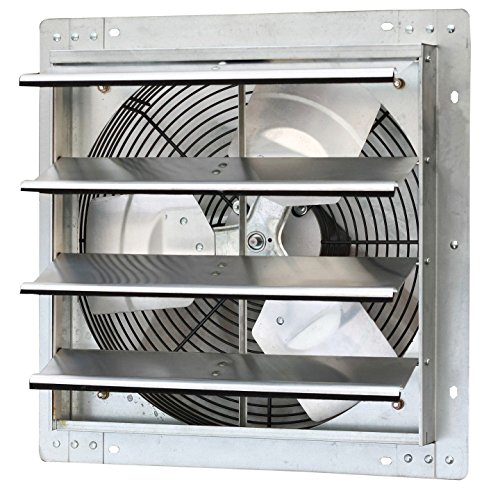 Shutters Window Boxes - Iliving 16 Inch Variable Speed Shutter Exhaust Fan, Wall-Mounted, 16
