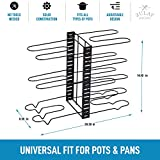 Zulay 8-Tier Pots and Pans Organizer Under