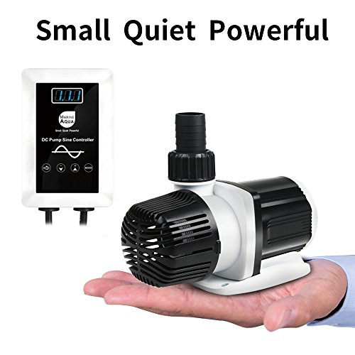 External Aquarium Water Pumps - aquastation DC-4000 Silent Swirl Controllable DC Aquarium Pump 25W 1050GPH-marine wavemaker Return Pump with sine Wave Controller for Salt/Freshwater Coral Reef Fish Tank Sump Circulation (DC4000)