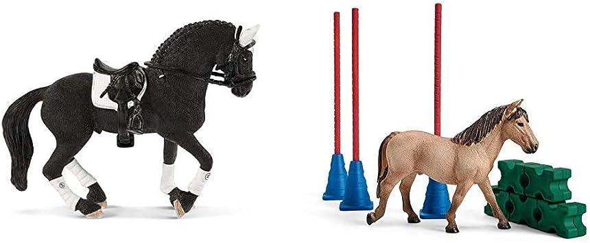 SHL42457 Étalon Frison Figurine de l/'univers HORSE CLUB