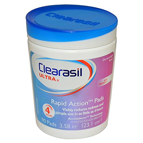 Clearasil Rapid Rescue Deep Treatment Cleansing Pads, 90 Count (Packaging May (Facial Deep Cleansing Pads)