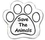 Save The Animals Pin, (Package Of 12, $9.38 Each) Real Jewelry, Not Plastic Or Paper Hypoallergenic, Safe-Nickel Free, No Poisionous Lead Or Cadmium
