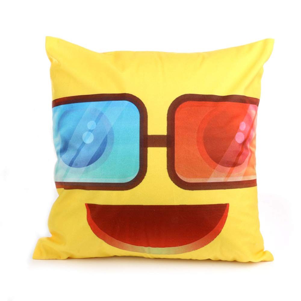 DIPOLA Funda de cojín Emoji Sofá Cintura Throw Cushion Cover ...