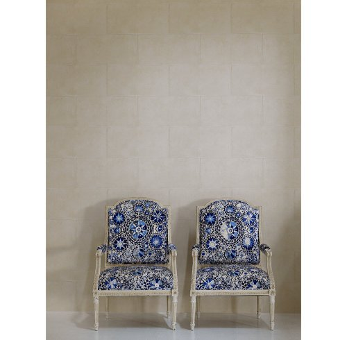 Kathy Kuo Home Camelot Museum Limestone Wallpaper- Sand - 2 Rolls