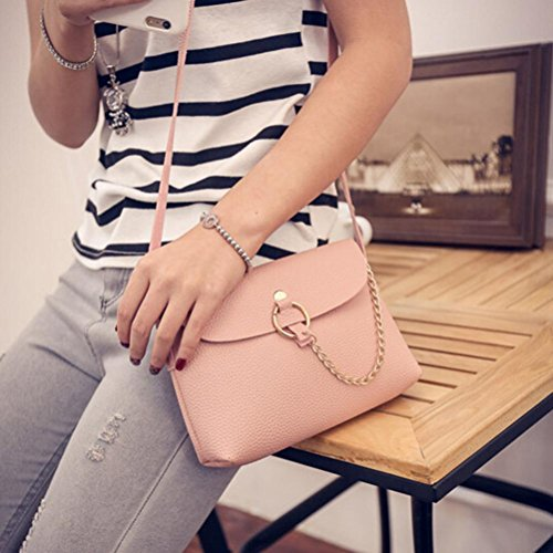 Small Shoulder Bag Woman Handbags Cheap Leather Shoulder By Esailq Pink Girl D