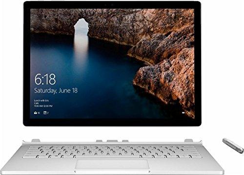 "Microsoft 4992857 Surfacebook Detachable, Intel:I7-6600U/CI7, 2.6 GHz, 256 GB, NVIDIA-GEFORCEGPU/1GB, Windows 10 Pro, 13.5"" (Refurbished)"