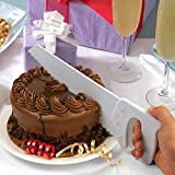 Fun and Practical Saw Shaped Cake or Salad Cutter by Fred and Friends. Table Saw Cake and Salad Saw - Cool New Home Warming Gift.