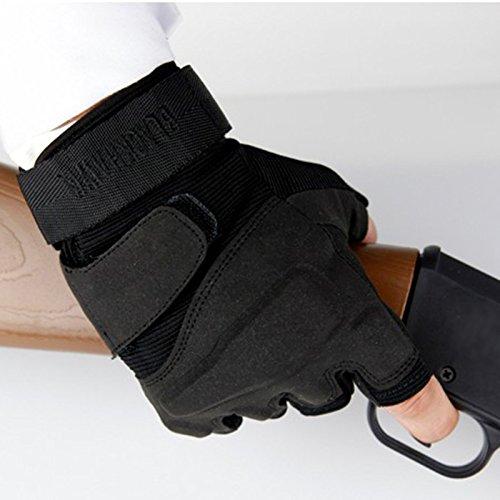 BXT Men/'s Half Finger Summer Mesh Driving Gloves Cycling Cotton Gloves Sport GYM