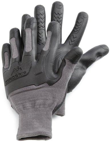 (Mad Grip Pro Palm Knuckler Glove 100,Grey/Black,Small/Medium)