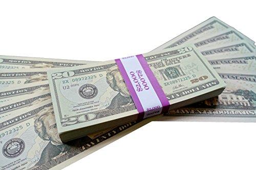 Big Screen Stacks PROP MONEY DOLLARS - $2,000 FULL PRINT 20