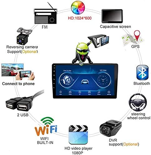 Stavr para Citroen C4 C4L 2013-2017 Built-in Radio Video Navigation BT WiFi Android 8.1 Coche Audio Cabezal est/éreo 9 Pulgadas Touchscreen Navigation para Aar