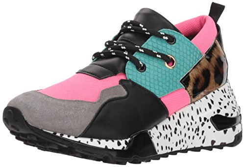- Steve Madden Women's Cliff Sneaker, Bright Multi, 6 M US