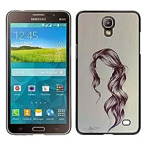 Stuss Case / Funda Carcasa protectora - Peinado Arte ondulada Retrato Anónimo Belleza - Samsung Galaxy Mega 2