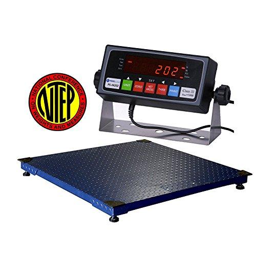 Pallet Floor Scales (10000lbs Capacity, Durable Floor Pallet Scale, 5'x5' Base)