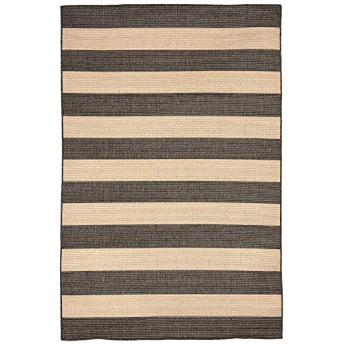 Liora Manne by TransOcean Terrace Rugby Charcoal Outdoor Rug 3ft. 3in. x 4ft. ()