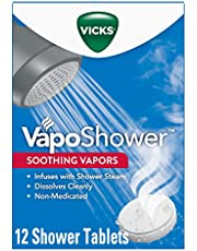 Vicks VapoShower, Shower Tablet, Shower Bomb, Aromatherapy Vapors, Eucaplytus & Menthol, Soothing Vicks Vapor Steam, 12ct