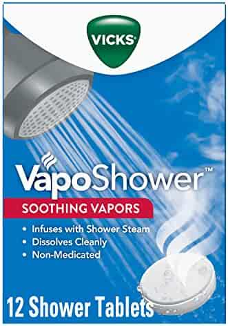 Vicks VapoShower, Shower Bomb Tablet, 12 Count (Eucalyptus and Menthol) - Soothing Vicks Vapor Steam Aromatherapy