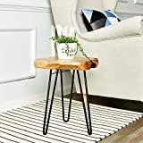 WELLAND Live Edge Side Table with Hairpin