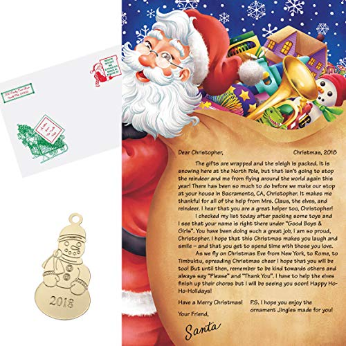 (Fox Valley Traders Personalized Letter from Santa and Ornament)