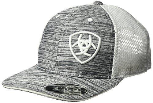 ARIAT Men's White Heather Offset Logo Cap, One Size
