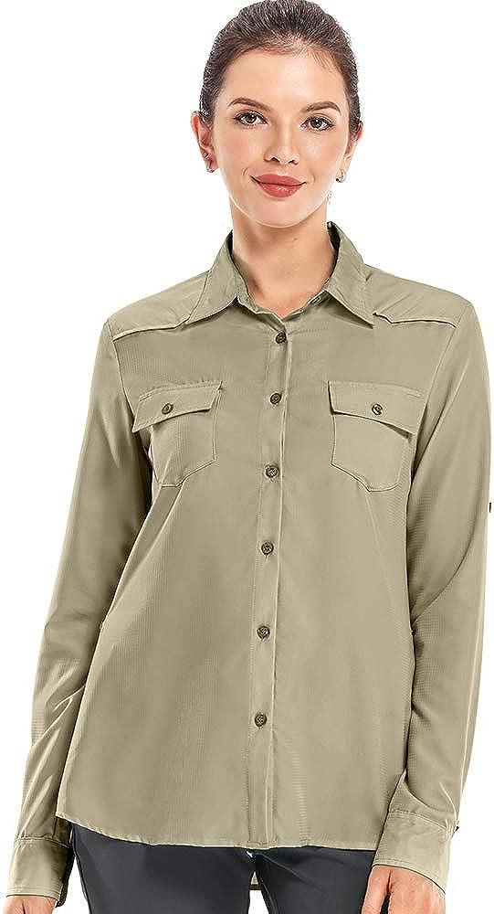 Jessie Kidden Womens Long Sleeve Shirt Uv Sun Protection Quick Dry Shirts