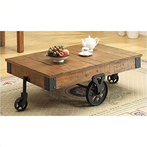 Coaster Country Style Coffee Table (Industrial Rustic Coffee Table compare prices)