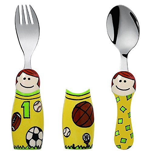 Eat4Fun Duo Collection Kids Fork & Spoon, Girl Doctor by Eat4Fun