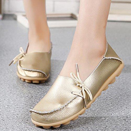 Genuina Mam Zapatos Mujeres Enfermera SHANGXIAN De Plano De Zapatos Zapatos Del Barco Piel YR7R1qZ