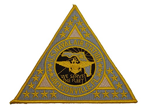 U.S. NAVAL AIR STATION JACKSONVILLE FL TRIANGLE CRUISE JACKET PATCH - COLOR - Veteran Owned - Stores Jacksonville Fl