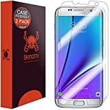 Galaxy S7 Edge Screen Protector (2-Pack,Case Friendly,Full Coverage), Skinomi® TechSkin - Premium HD Clear Film with Lifetime Warranty / Ultra High Definition Invisible & Anti-Bubble Crystal Shield