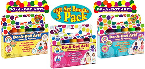 Do A Dot Washable Rainbow Markers (6 Pack), Shimmer Markers (5 Pack) & Brilliant Markers (6 Pack) Gift Set Bundle - 3 Pack