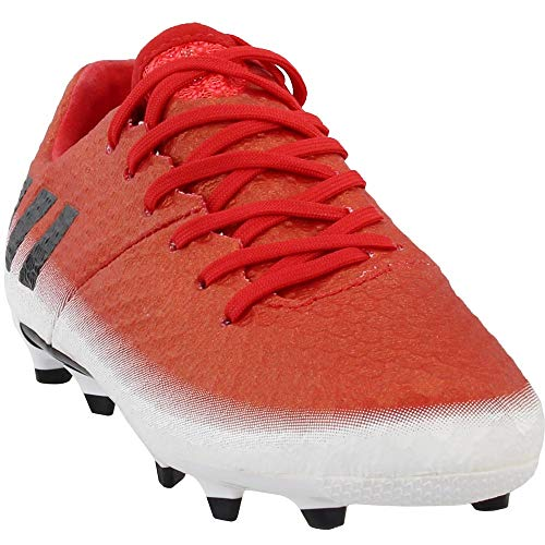 adidas Boys Messi 16.1 Firm Ground Junior Soccer Athletic Cleats, Red, 3