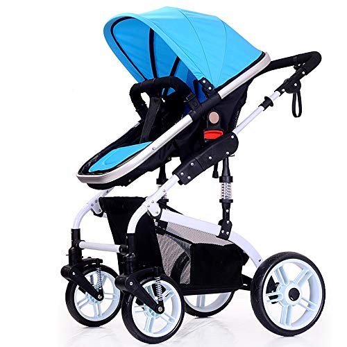 - Safety Protection Stroller, Joint Anti-Pinch Pushchair, Breathable Comfort/Easy to Carry/Anti-Mosquito/can be Taken on The Plane - (0-36 Months),Blue