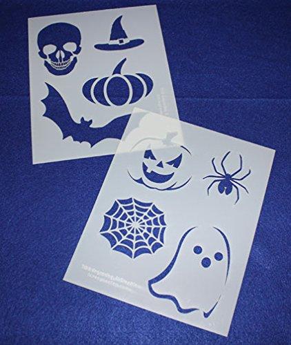 Halloween Stencils - 2 Piece Set - 8 x 10 Inches -